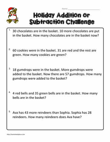 3rd Grade Word Problems Worksheets