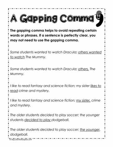A Gapping COmma