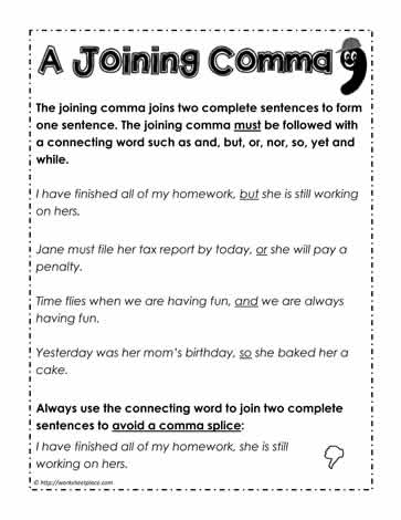 A Joining Comma