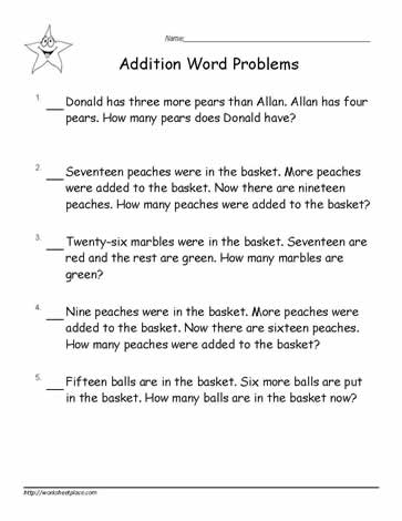 addition word problems to 20 worksheets. Black Bedroom Furniture Sets. Home Design Ideas