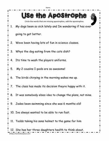 Apostrophe-Worksheet-3Worksheets