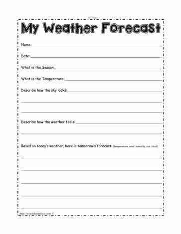 my weather forecast worksheets. Black Bedroom Furniture Sets. Home Design Ideas