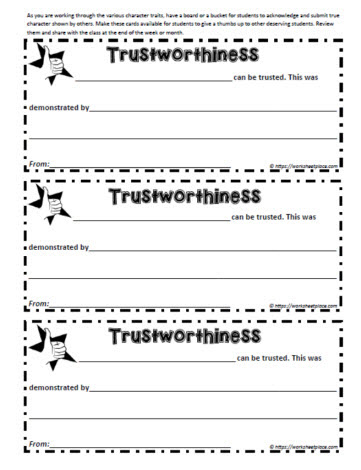 Character Trait Coupons for ALL the traits
