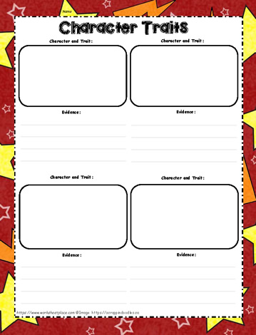 Character Traits Graphic Organizer