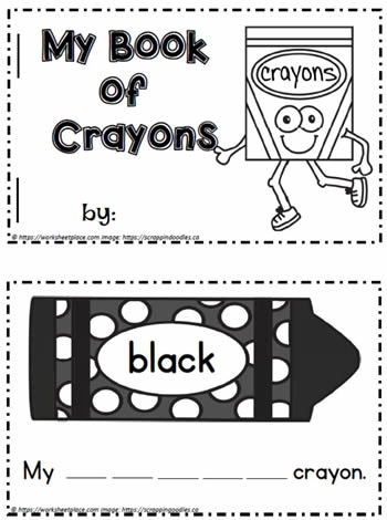 Color Crayon Booklet  BW