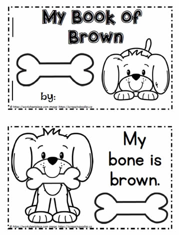 Color Word Booklet Brown