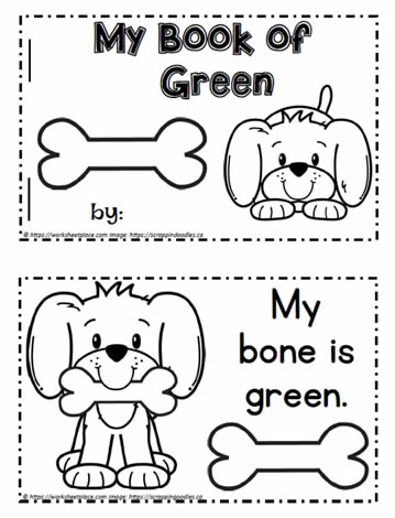 Color Word Booklet Green
