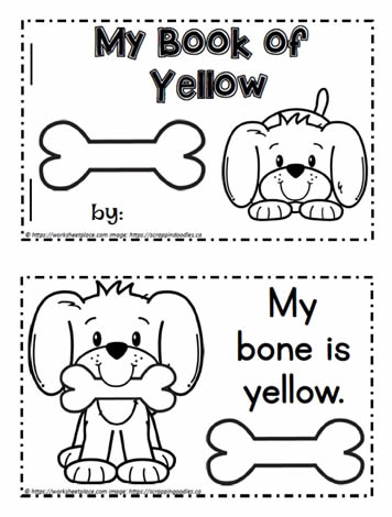 Color Word Booklet Yellow