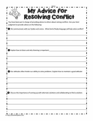 Conflict Resolution Advice