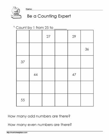 Common Worksheets » Counting To 100 Worksheet - Preschool and ...