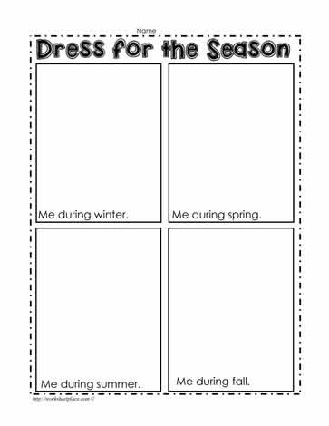 Dress for the Season Worksheet