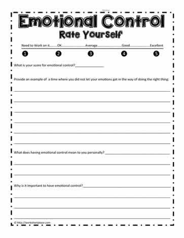 Social Emotional Worksheets