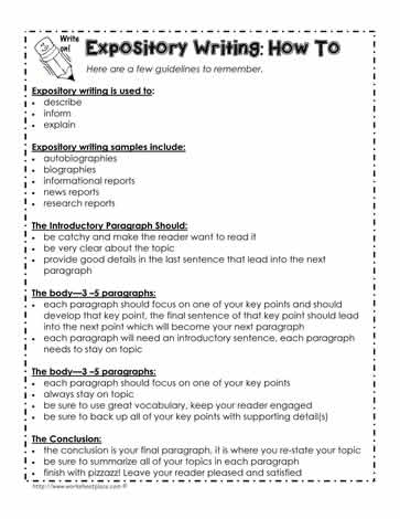 expository writing lessons Lesson plan pg 1 expository writing lesson plan (extension activity)  learning objectives: students will: write an interpretive or persuasive response  to.