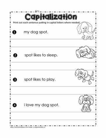 Fix the Sentences Worksheets