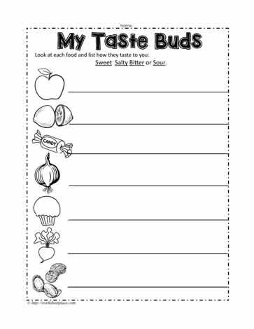 My taste buds worksheets a taste bud worksheet for grade 1 science ibookread Read Online