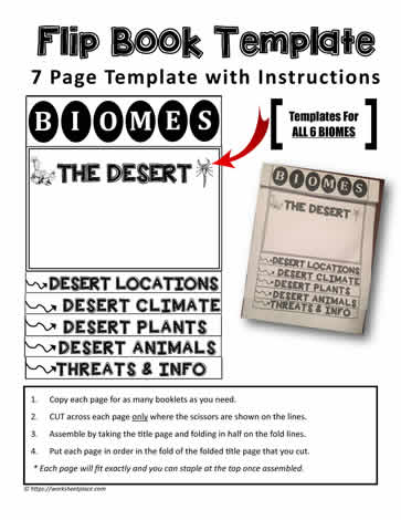 a free flip book template worksheets