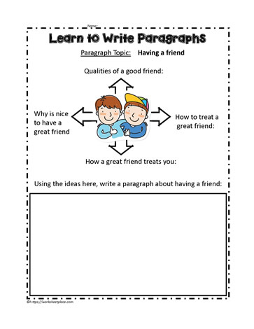 Great Friend Paragraph Worksheets