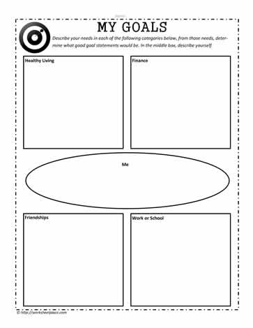 Setting Goals Worksheets