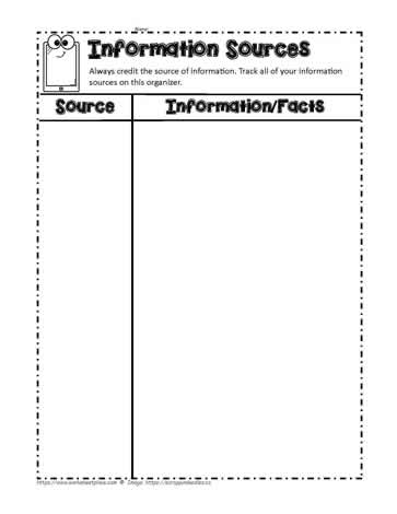 Graphic Organizers Info Tracking