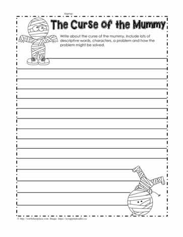 Halloween Story Writing Worksheet Worksheets