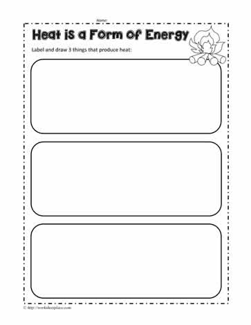 Heat Energy Worksheet Worksheets