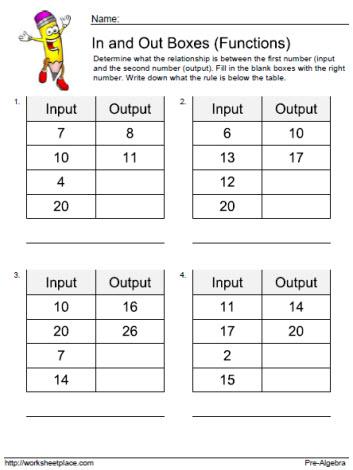 Input Output Worksheet 3 Worksheets