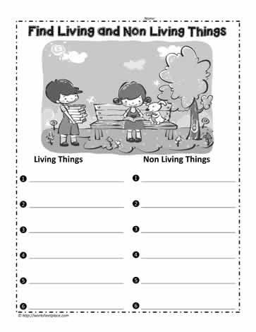 find living things worksheets. Black Bedroom Furniture Sets. Home Design Ideas