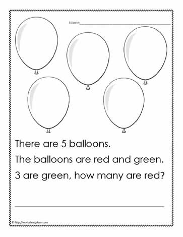 Word Problem to 5