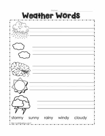 label the weather words worksheets. Black Bedroom Furniture Sets. Home Design Ideas