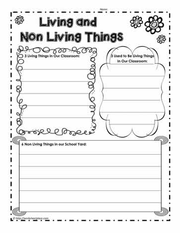 Non Living Or Living Worksheets