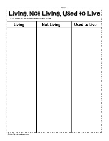 Worksheets Living Vs Nonliving Worksheet living and non things worksheetsworksheets used to live