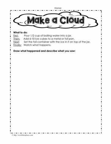 Make A Cloud Worksheets