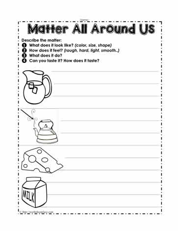 matter around us worksheets. Black Bedroom Furniture Sets. Home Design Ideas