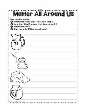 Matter Around Us Worksheets