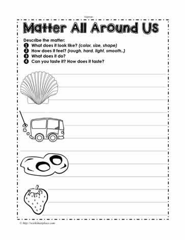 matter around us worksheets. Black Bedroom Furniture Sets. Home Design Ideas