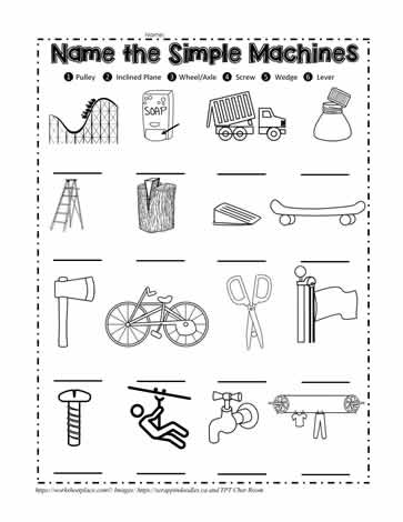 Simple Machine Quiz Worksheets