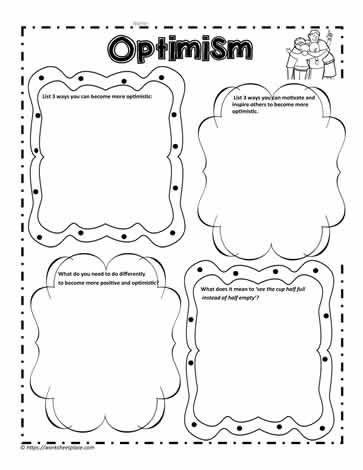 Optimism Graphic Organizer