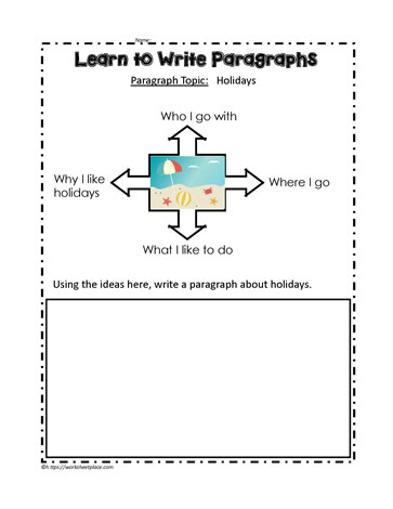 Graphic Organizers For Writing Paragraphs