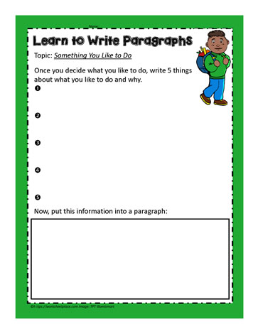 Paragraph Teaching Activity