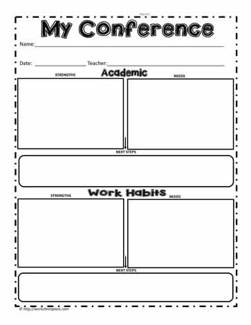 My Conference Worksheet