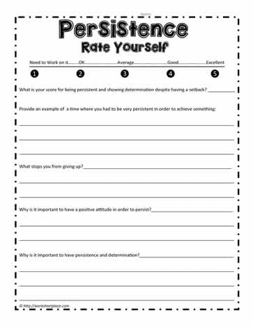 Persistence Worksheet