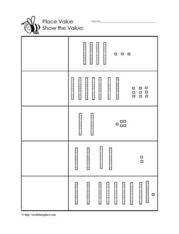 place value to 100 worksheets. Black Bedroom Furniture Sets. Home Design Ideas