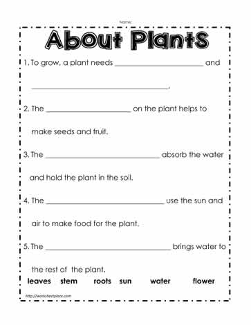 Proatmealus  Marvellous Parts Of A Plant Worksheetsworksheets With Goodlooking Plant Worksheet With Breathtaking Singular And Plural Worksheets For Kindergarten Also Canadian Coins Worksheets In Addition Time Worksheets For Th Grade And Class  Maths Worksheets As Well As Algebra Worksheets Grade  Additionally Sentences And Phrases Worksheet From Worksheetplacecom With Proatmealus  Goodlooking Parts Of A Plant Worksheetsworksheets With Breathtaking Plant Worksheet And Marvellous Singular And Plural Worksheets For Kindergarten Also Canadian Coins Worksheets In Addition Time Worksheets For Th Grade From Worksheetplacecom