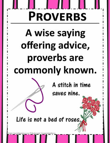 Poster: Proverbs