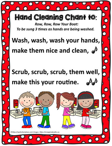 Poster for a Handwashing Chant