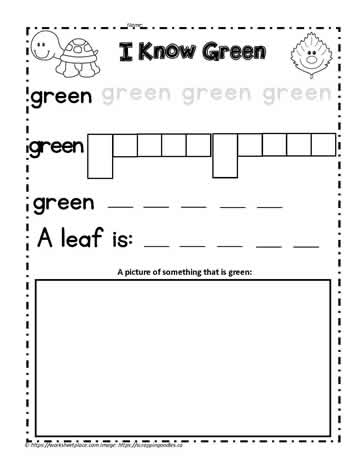 Print the Color Word Green