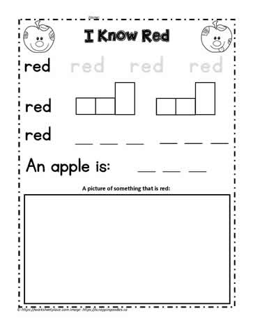 Print the Color Word Red