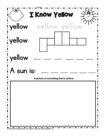Print the Color Word Yellow