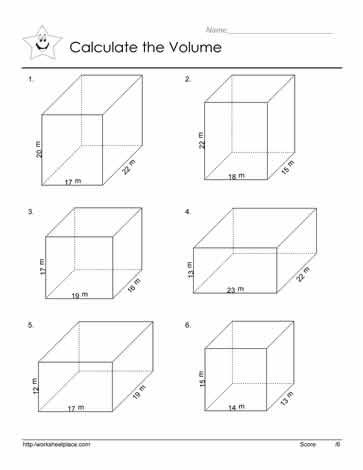 Volume Of Prism Worksheets