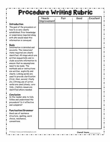 Procedural-Writing-Rubric